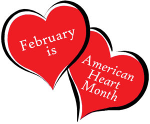 February is American Heart Month clipart