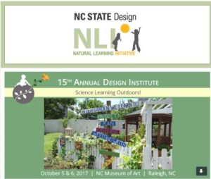 Cover photo for 15th Annual Design Institute- Science Learning Outdoors - Oct 5-6, 2017