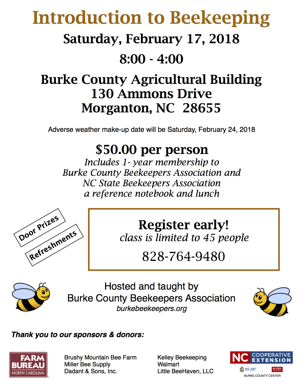 beekeeping event announcement