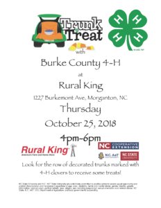 Trunk or Treat flyer image