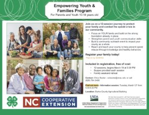 Cover photo for Empowering Youth & Families Program