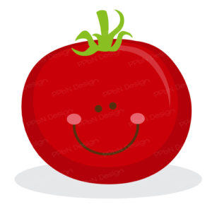 clipart of tomato with smiling face