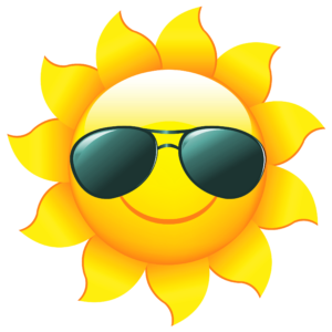 clipart of smiling sun wearing sunglasses