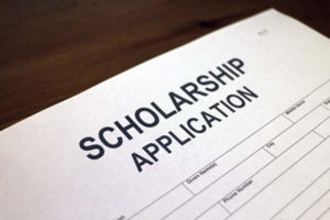 photo of scholarship application