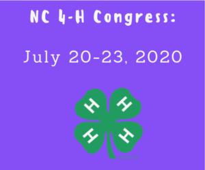 nc 4-H congress 2020 logo