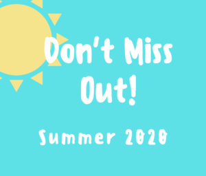 don't miss out Summer 2020 logo