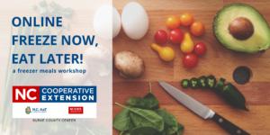 Freeze Now, Eat Later workshop flyer