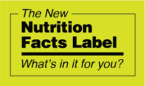 the new nutrition facts label logo