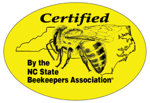 Certified by NC State Beekeepers Association honey label
