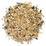pile of bird food with assorted grains
