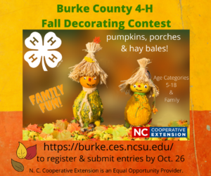 4-H Fall Decorating Contest Flyer