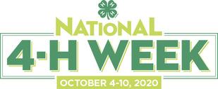 national 4-H Week 2020 logo