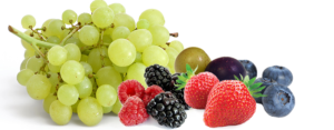 grapes, strawberries, blueberries and other small fruits